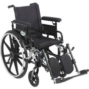 "16"" Viper Plus GT Wheelchair, Flip Back & Detachable Adj. Height Full Arm, Elevating Legrests"