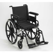 """16"""" Viper Plus GT Wheelchair, Flip Back Detachable Adjustable Full Arms, Swing-Away Footrests"""