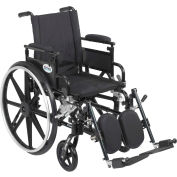 "20"" Viper Plus GT Wheelchair, Flip Back & Detachable Adj. Height Desk Arm, Elevating Legrests"