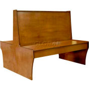 "DM Seating - 42""H Double Wood Booth, DBD42-CW-WALNUT, Walnut"