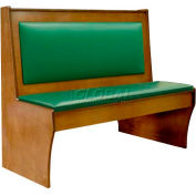 "DM Seating - 42""H Single Wood Booth, DBS42-CW-W-GREENPAD, Walnut With Green Pad"