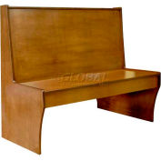 "DM Seating - 42""H Single Wood Booth, DBS42-CW-WALNUT, Walnut"