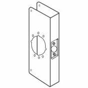 """Don Jo 12-2-CW-PB Wrap Around For Cylinder Door Locks, 4-3/4""""x12"""", Polish Brass"""