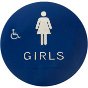 Don Jo CHS 5 Girl's Restroom Sign, BL - Pkg Qty 10