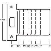 """Don Jo EST 102-630 Extended Lip, ANSI Strike, 4-7/8""""x2"""", Stainless Steel - Pkg Qty 10"""