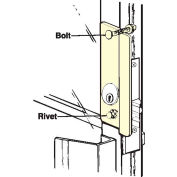 "Don Jo GLP 307 RHR-DU Right Hand Reverse Latch Protector For AL Entrance DR, 2-5/8""x7"", DC - Pkg Qty 10"