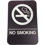 "Don Jo HS 9060 22 - No Smoking ADA Sign, 6"" x 9"", Brown With Raised White Lettering - Pkg Qty 10"