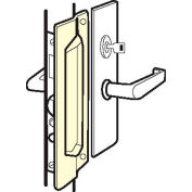 "Don Jo MLP 211 EBF-SL Latch Protector For Outswing Doors, Fasteners, 3""x11"", Silver Coated, Steel - Pkg Qty 10"