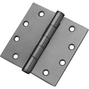 "Don Jo PB94545-630 Full Mortise Plain Bearing Hinge, 4-1/2""x4-1/2"", Stainless Steel - Pkg Qty 3"
