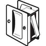 "Don Jo PDL 100-605 Passage Pocket Door Lock, 2-1/2""x2-3/4"", Polish Brass - Pkg Qty 10"