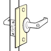 Don Jo SLP 206 EBF-SL Short Type Latch Protector For Outswing Doors, Fasteners, Silver Coated - Pkg Qty 10
