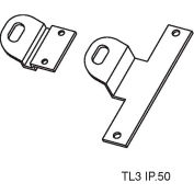 "Don Jo TL 3 Temporary Lock Works W/In Swing Doors, 2-1/4""x1-1/8"", Prime Coat - Pkg Qty 10"