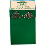 DOGIPOT® All-In-One DOGVALET®, Aluminum, Litter Bag Rolls, Forest Green