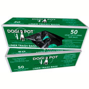 DOGIPOT® Liner Trash Bags, 50/Box, Fits 10 to 15 Gallon Trash Cans