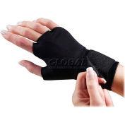 Dome® Support Glove, 3734, W/Wrist Strap, Medium, Black