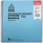 "Dome® Household Budget File, 9-3/4"" x 11"", Light Blue Cover"