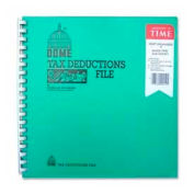 "Dome® Tax Deductions File, 9-3/4"" x 11"", Turquoise Cover"