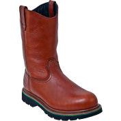 John Deere JD4393 Men's Brown Walnut Steel Toe Pull On Leather Boots, Size 8 W