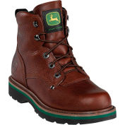 John Deere JD6193 Men's Brown Walnut Non Steel Toe Lace Up Leather Boots, Size 8.5 M