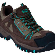 McRae MR41301 Women's Tan & Turquoise Composite Toe Lace Up Hiker Shoes, Size 6 W