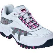 McRae MR41307 Women's White & Gray Composite Toe Lace Up Hiker Shoes, Size 8.5 M