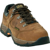 McRae MR83311 Men's Tan Low Cut Steel Toe Met Guard Lace Up Leather Shoes, Size 9.5 W