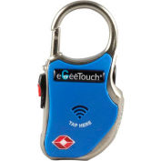 eGeeTouch Smart TSA lock 5-01000-93 with NFC and Bluetooth Access - Vicinity Tracking - Blue