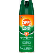 OFF® Deep Woods Insect Repellent, 25% DEET, 6 oz. Aerosol Spray, 12 Cans - 611081