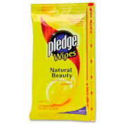 "Pledge® Furniture Wipes Lemon Scent 7"" x 10"", 24 Wipes/Pack 12/Case - DRACB728072CT"