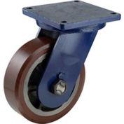 "Darnell-Rose R-120 Series Rigid Plate Caster RC-0127-011PS - Polyurethane 10""Dia. 4500 Cap. Lb."