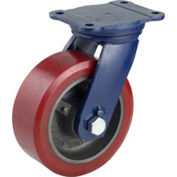 "Darnell-Rose R-100 Series Swivel Plate Caster SC-0100-008PS - Polyurethane 8""Dia. 2500 Cap. Lb."