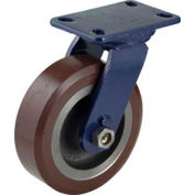 "Darnell-Rose R-600 Series Swivel Plate Caster SC-0698-PS-T - Polyurethane 8""Dia. 1600 Cap. Lb."