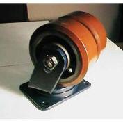 "Darnell-Rose Dual Wheel Rigid Plate Caster TRC-0130-012PS - Polyurethane 12""Dia. 9600 Cap. Lb."