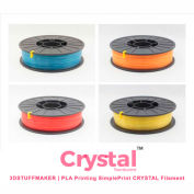 3D Stuffmaker PLA 3D Printer Crystal Filament, 1.75mm, 0.75 kg, Yellow