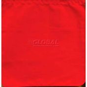 """Dicke Safety 18"""" Red Vinyl Flag, with 24"""" Wood Staff, 2024-18"""