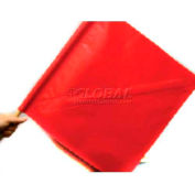 """Dicke Safety 18"""" Red Vinyl Flag, with Stay & 30"""" Wood Staff, 2024-18S"""