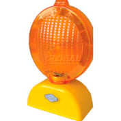 Dicke Safety Barricade Light, 3V LED, 3-Way with Photocell, Yellow Case, AC4D