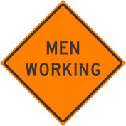 """Dicke Safety Non-Reflective Roll-Up Sign, 36"""" x 36"""", MEN WORKING, RUNR36-200 MW"""