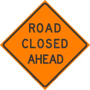 """Dicke Safety Non-Reflective Roll-Up Sign, 36"""" x 36"""", ROAD CLOSED AHEAD, RUNR36-200 RCA"""