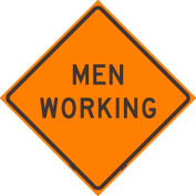 """Dicke Safety Reflective Roll-Up Sign, 48"""" x 48"""", MEN WORKING, RUR48-200 MW"""