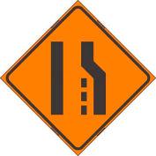 "Dicke Safety Reflective Roll-Up Sign, 48"" x 48"", TRANSITION LEFT SYMBOL, RUR48-200-TLS"