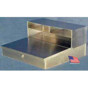 """Wall-Mount Stainless Steel Shop Desk - 23""""Dx 24""""W x 12""""H"""