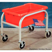 """DC Tech Single Tote Cart DL101044, Fully Welded, Stainless Steel , 28-1/2""""L x 15-1/4""""W x 16""""H"""