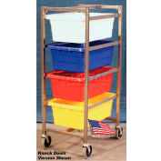 "DC Tech Quad Tote Cart DL101047, Fully Welded, Stainless Steel , 25-1/2""L x 18-3/8""W x 52-1/2""H"