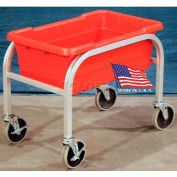 "DC Tech Single Tote Cart DL102006, Fully Welded, Aluminum , 28-1/2""L x 15-1/4""W x 16""H, No Totes"