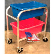 "DC Tech Dual Tote Cart DL102007, Fully Welded, Aluminum , 28-1/2""L x 15-1/4""W x 33""H"