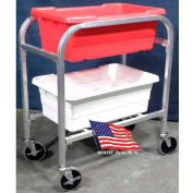"DC Tech Dual Tote Cart DL102012, Knock Down, Aluminum , 28-1/2""L x 15-1/4""W x 33""H"