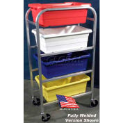 "DC Tech Quad Tote Cart DL102013, Knock Down, Aluminum , 28-1/2""L x 15-1/4""W x 52-1/2""H"