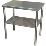 "DC TECH TB101161 - Stand-Alone Stainless Steel Table, 20""W"
