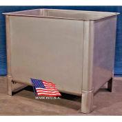 """DC Tech VT101002 Stainless Steel Vat 2000 Lb Cap  w/Drain & Rubber Plug, 51""""L x 39-1/2""""W x 43""""H"""